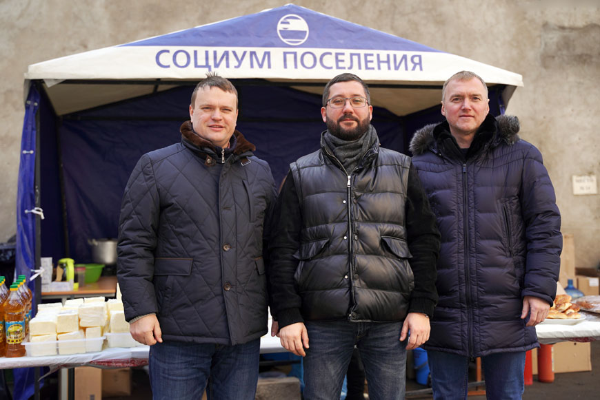 Денис Шмелёв, Руслан Ашурбейли и Андрей Данько на масленице